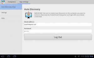 PocketCloud Remote Screenshot