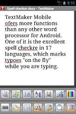 TextMaker Mobile Screenshot