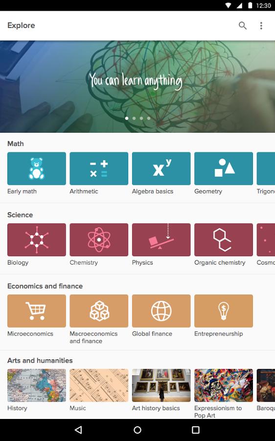Khan Academy screenshot 2