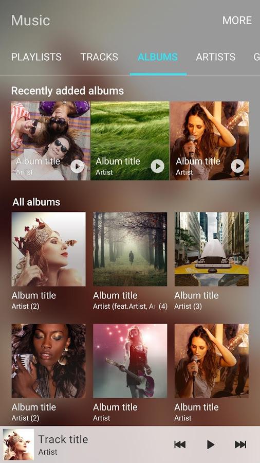 Samsung Music app screenshot 1