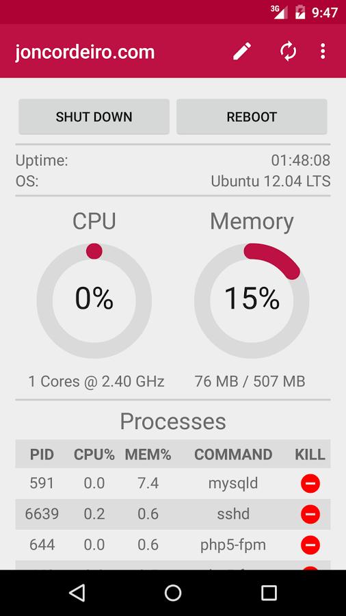 Pi Manager screenshot 1
