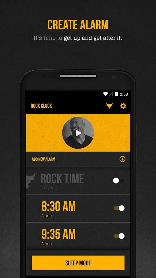 The Rock Clock screenshot 1