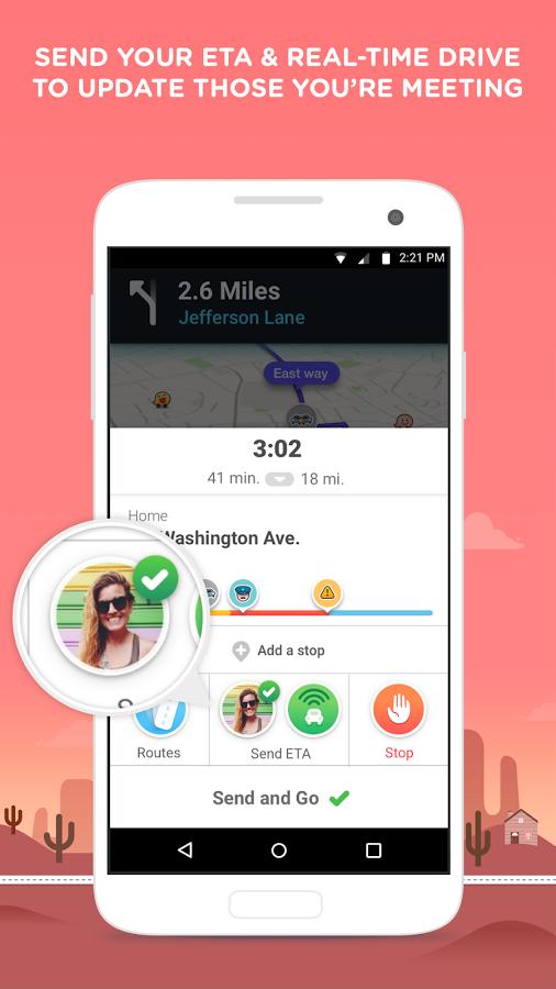 Waze screenshot 2
